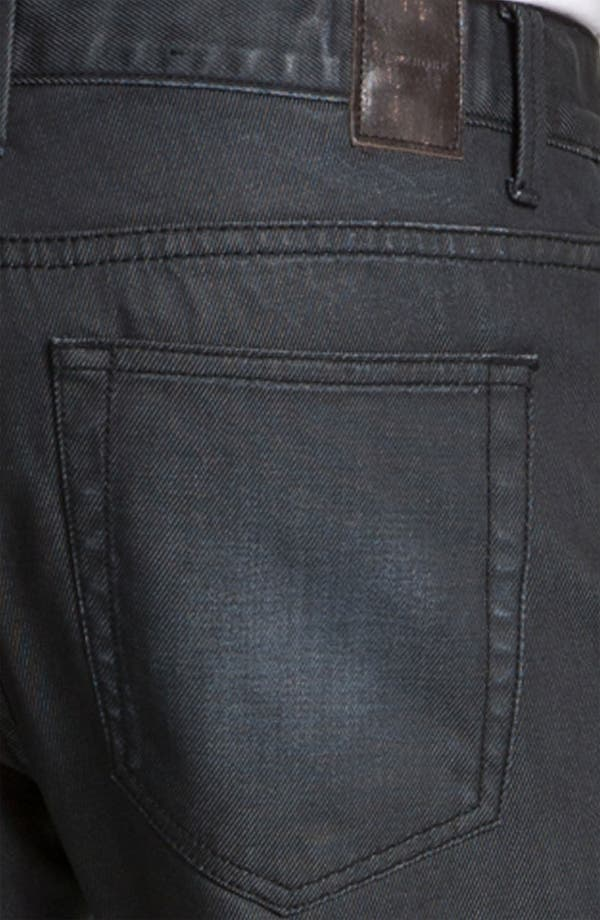 Alternate Image 4  - Zanerobe 'Straight Mate' Coated Slim Straight Leg Jeans (Blue Black Wax)
