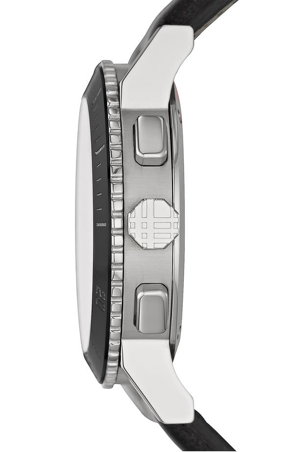 Alternate Image 2  - Burberry Check Stamped Chronograph Watch