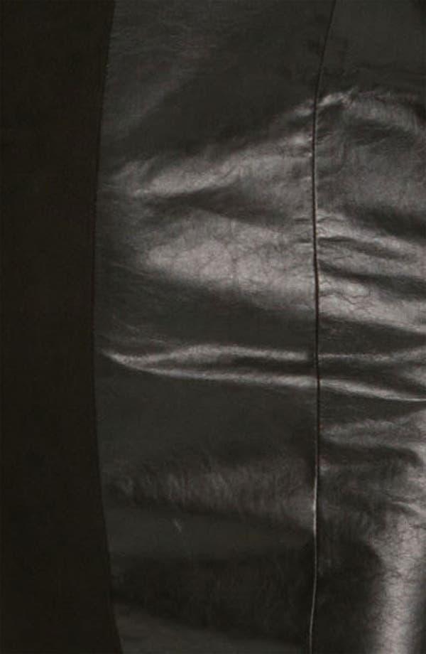 Alternate Image 3  - Robert Rodriguez Leather & Suede Sheath Dress