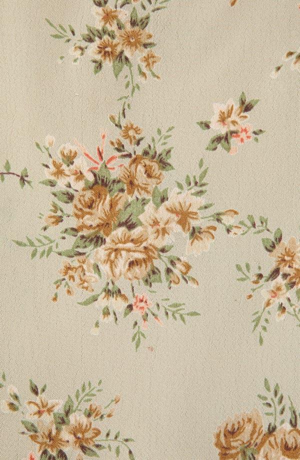 Floral Pintuck Shirt,                             Alternate thumbnail 3, color,                             Sage