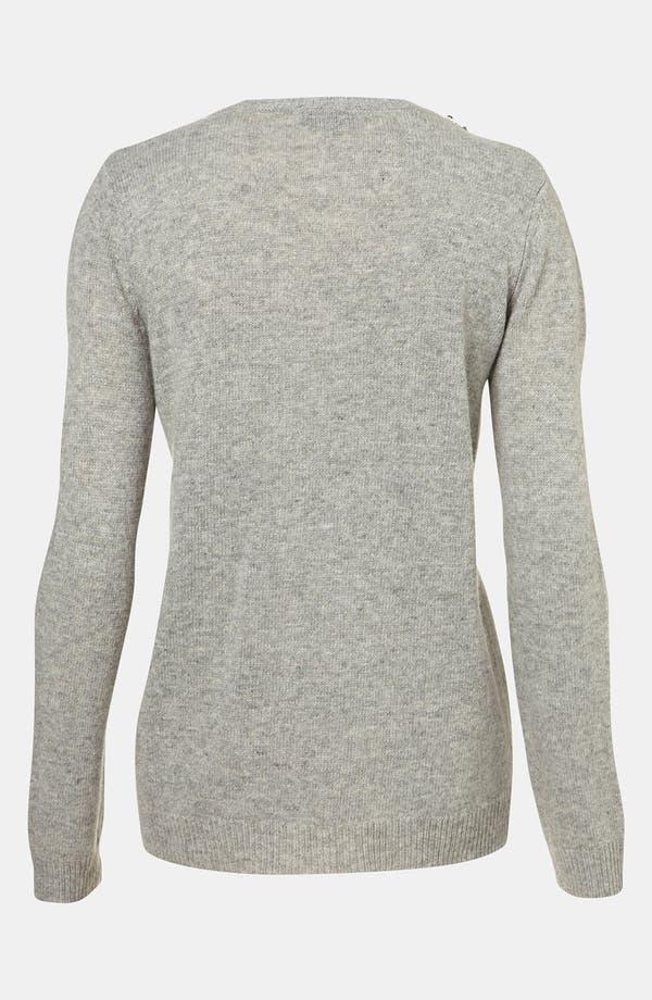Alternate Image 3  - Topshop Rhinestone Trim Sweater