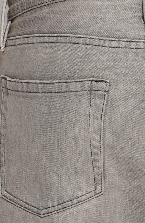 Alternate Image 3  - Burberry Brit Straight Leg Jeans (Grey)