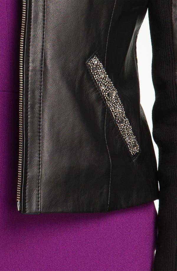 Alternate Image 4  - Badgley Mischka 'Ellie' Beaded Leather Jacket