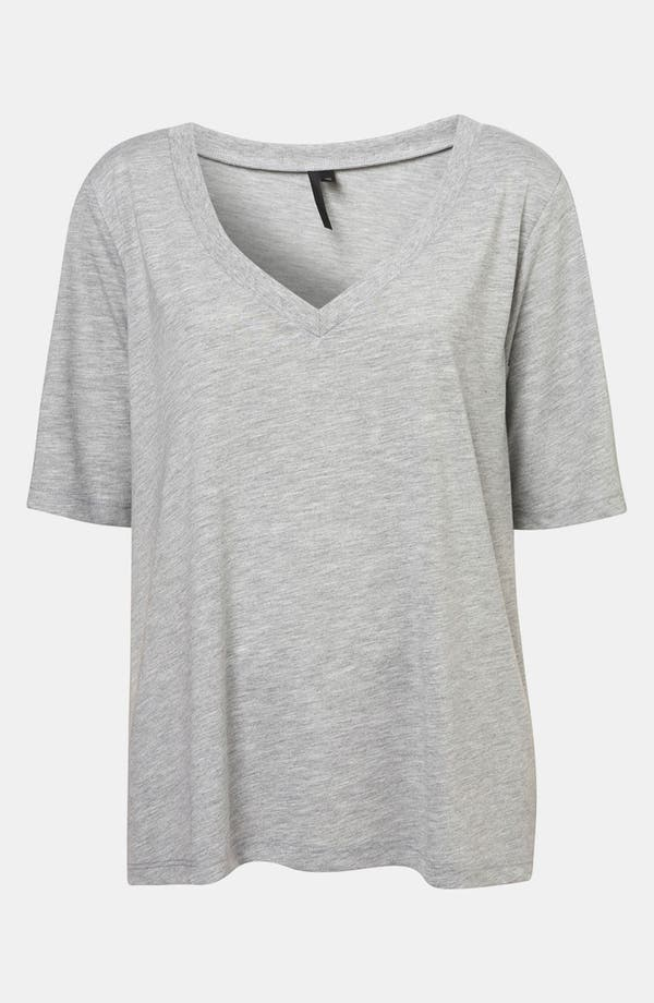 Alternate Image 1 Selected - Topshop Boutique Boxy V-Neck Tee