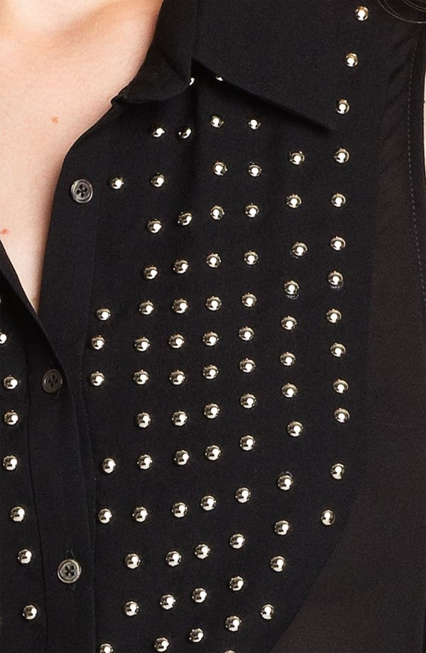 Alternate Image 3  - Elizabeth and James Studded Bib Silk Top