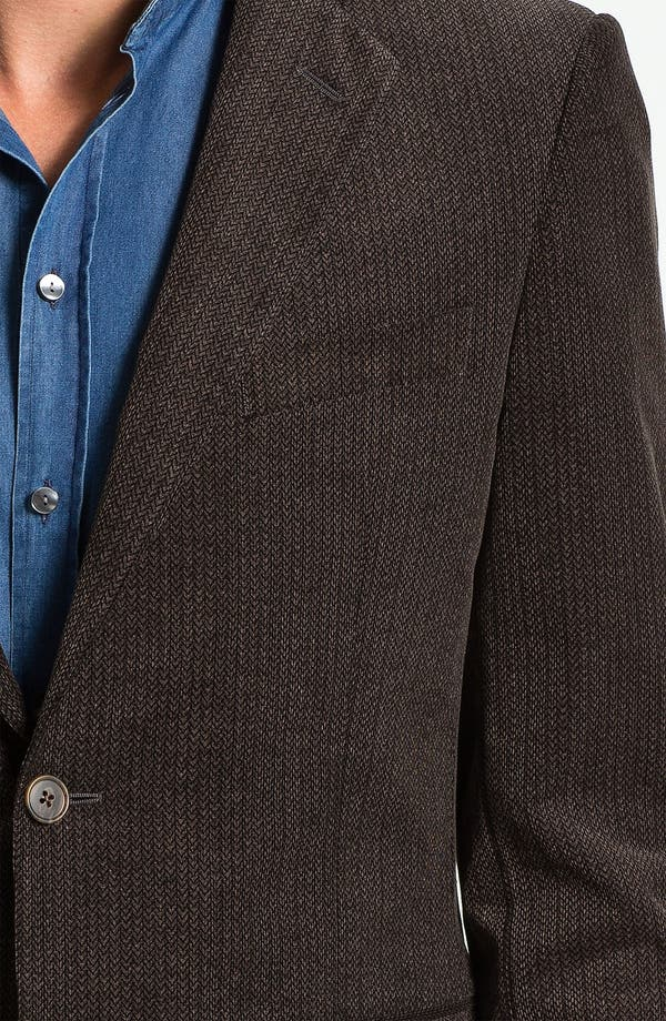 Alternate Image 3  - Joseph Abboud Herringbone Cotton Sportcoat