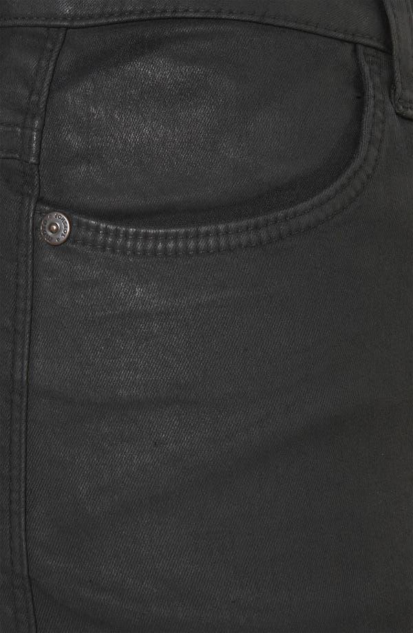 Alternate Image 3  - Topshop Moto 'Suri' Coated Denim Hot Pants