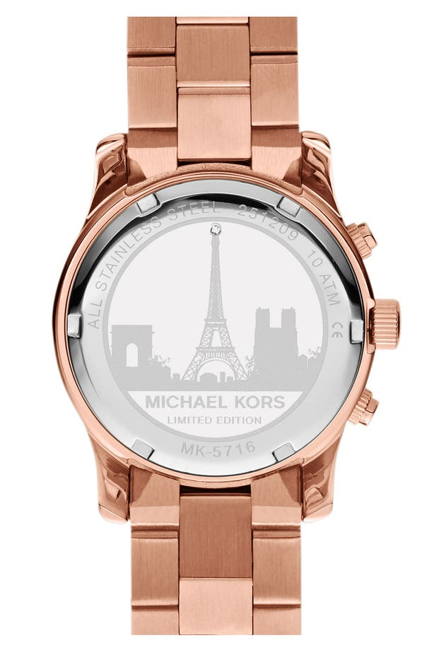Alternate Image 2  - Michael Kors 'Runway - Paris' Chronograph Watch (Limited Edition)