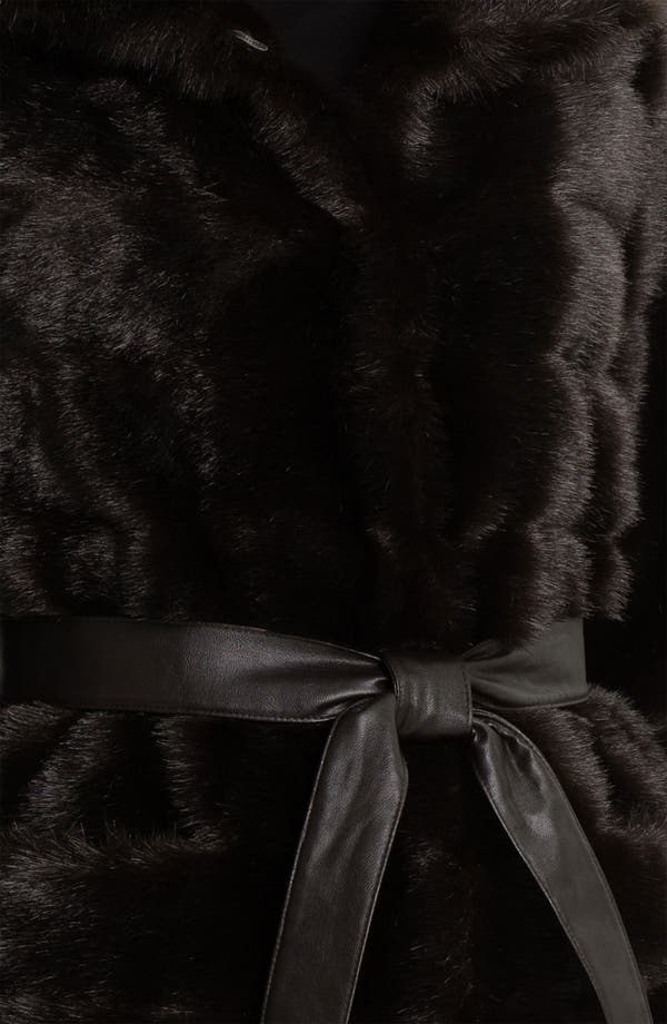 Alternate Image 3  - Kristen Blake Belted Faux Fur Coat (Online Exclusive)