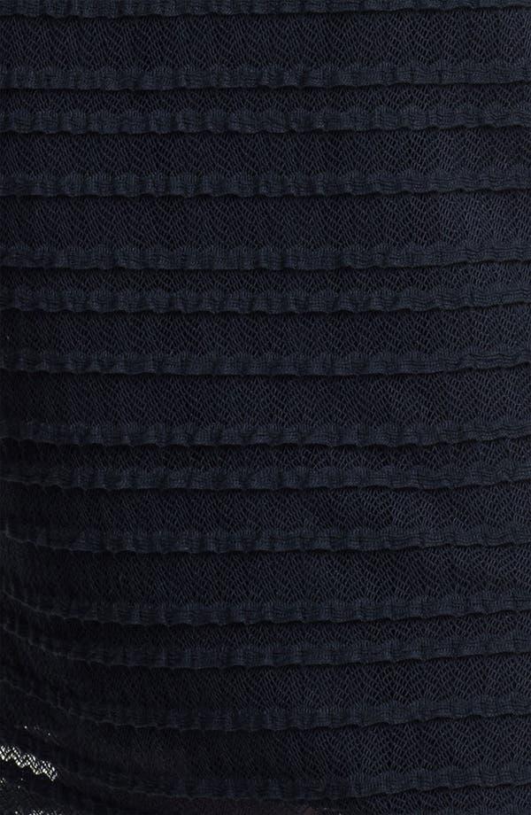 Alternate Image 3  - Kay Unger Illusion Sleeve Textured Sheath Dress