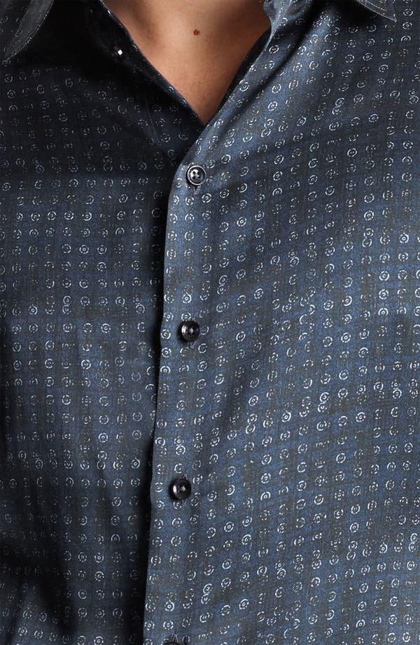 Alternate Image 3  - Armani Collezioni Silk Dot Sport Shirt