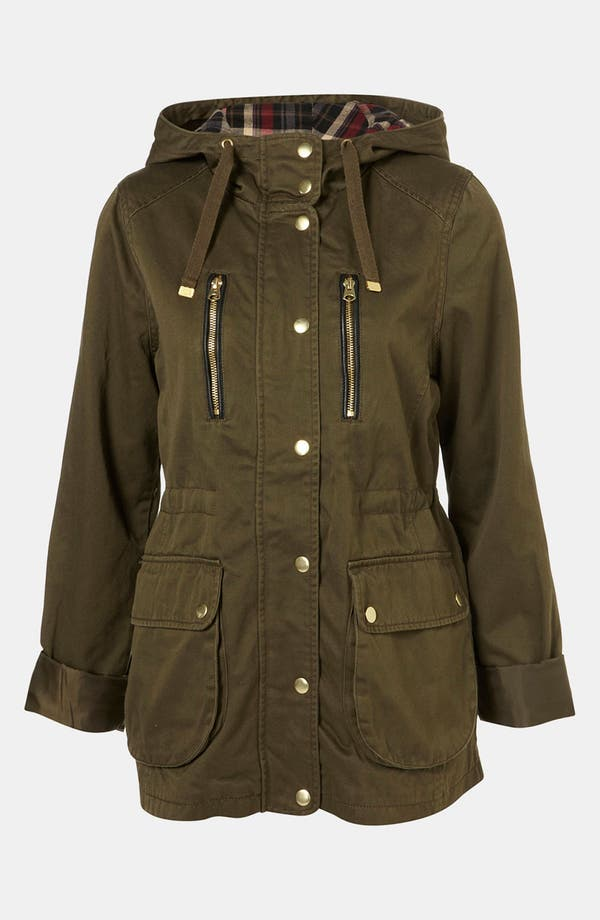Main Image - Topshop Hooded Utility Jacket