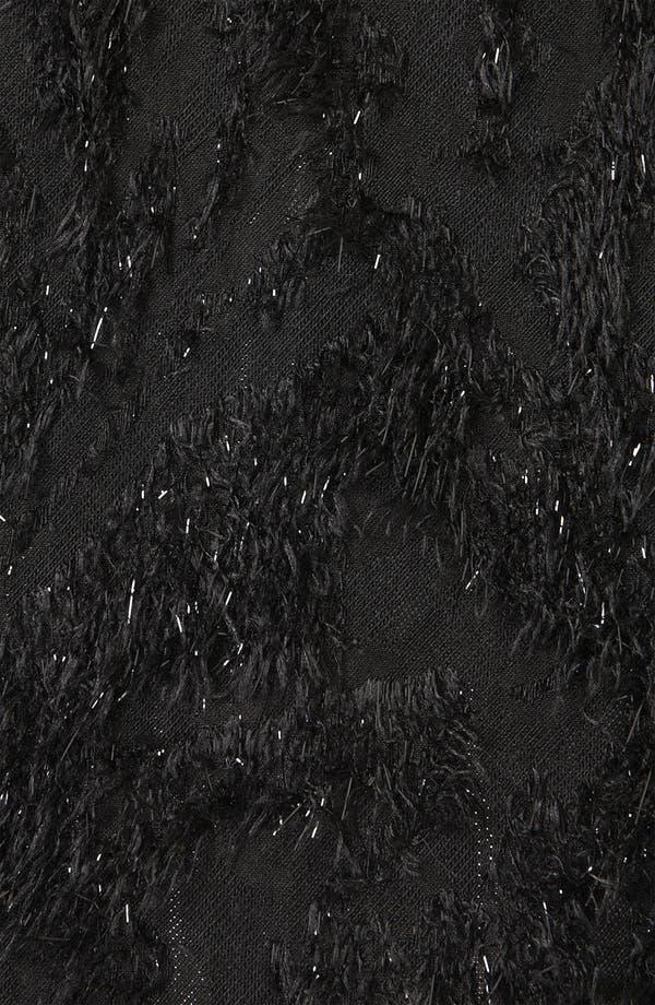 Alternate Image 3  - Topshop Metallic Feather Skater Skirt