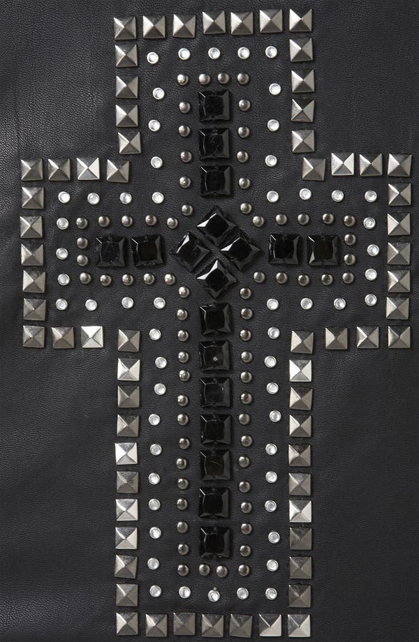Alternate Image 3  - Topshop 'Cross' Studded Faux Leather Jacket