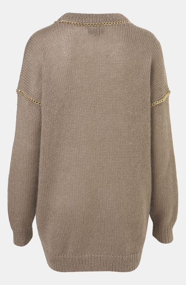 Alternate Image 2  - Topshop Chain Trim Sweater