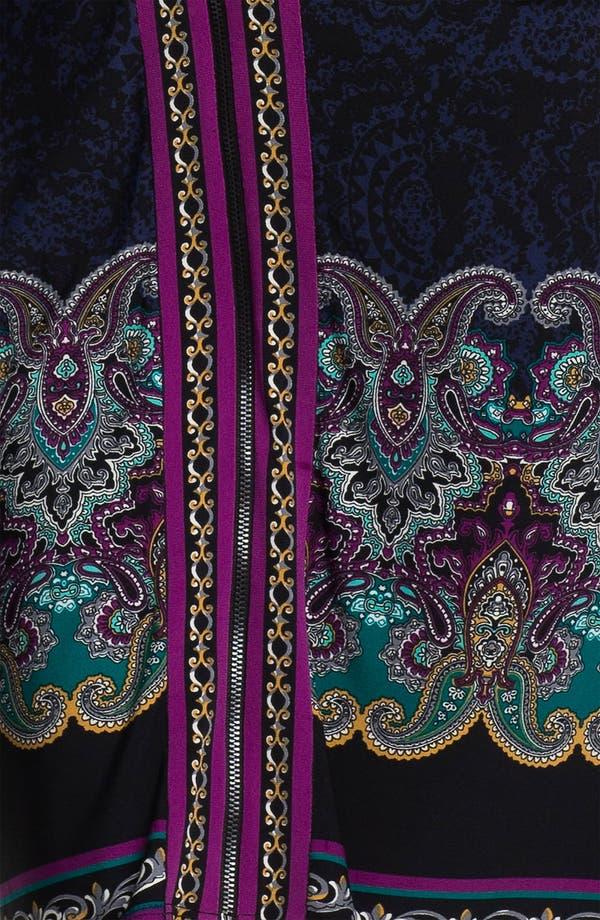Alternate Image 3  - Laundry by Shelli Segal Zip Front Paisley Print Jersey Dress