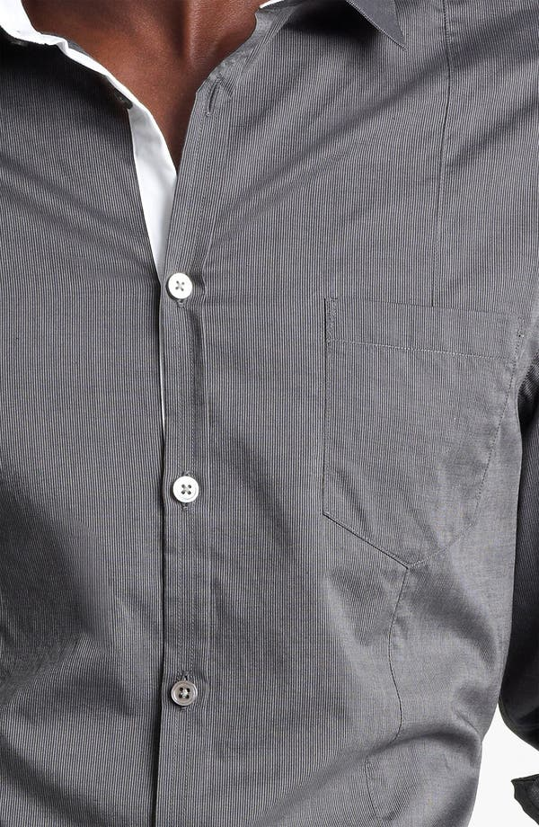 Alternate Image 3  - John Varvatos Collection Slim Fit Stripe Shirt