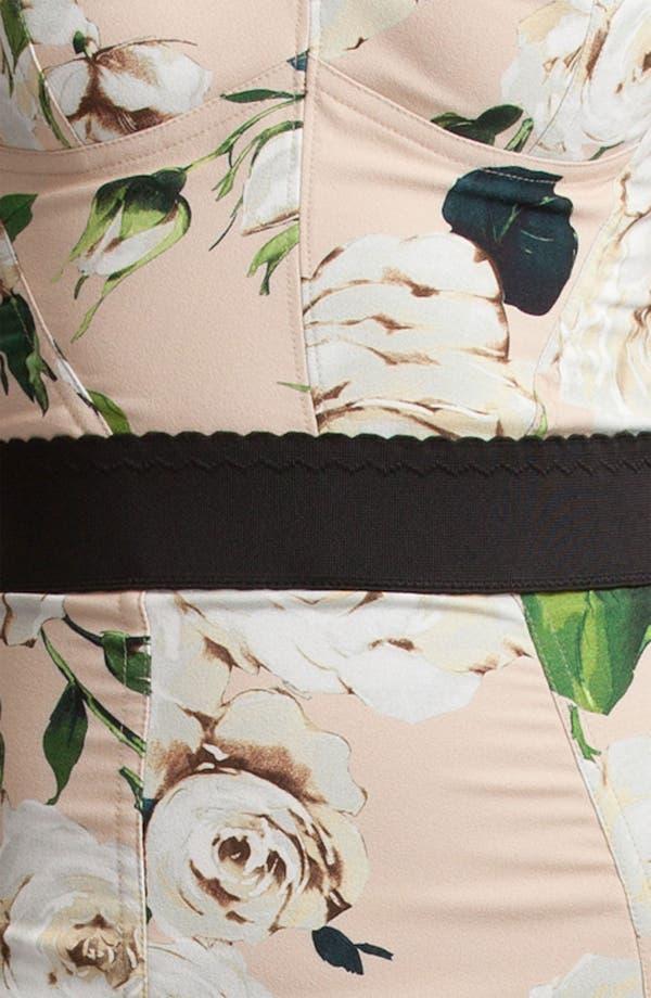 Alternate Image 3  - Dolce&Gabbana Rose Print Stretch Cady Dress