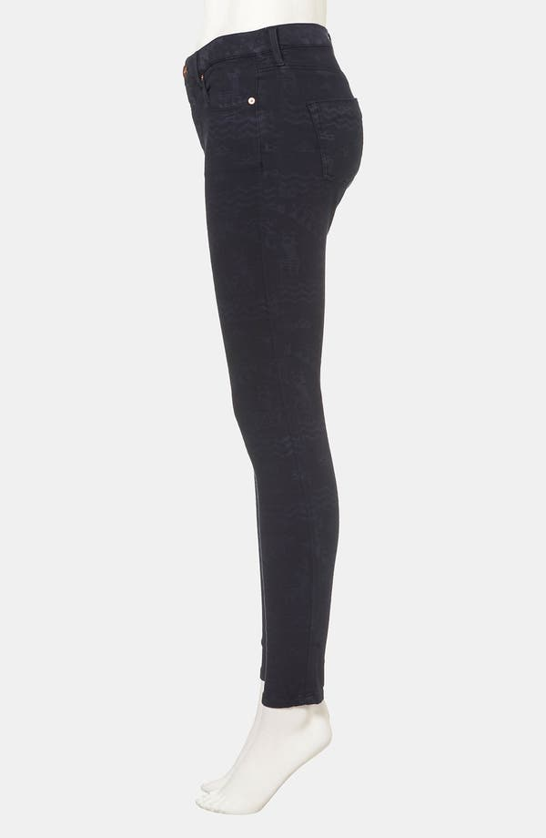Alternate Image 4  - Topshop Moto 'Leigh' Andean Print Skinny Jeans