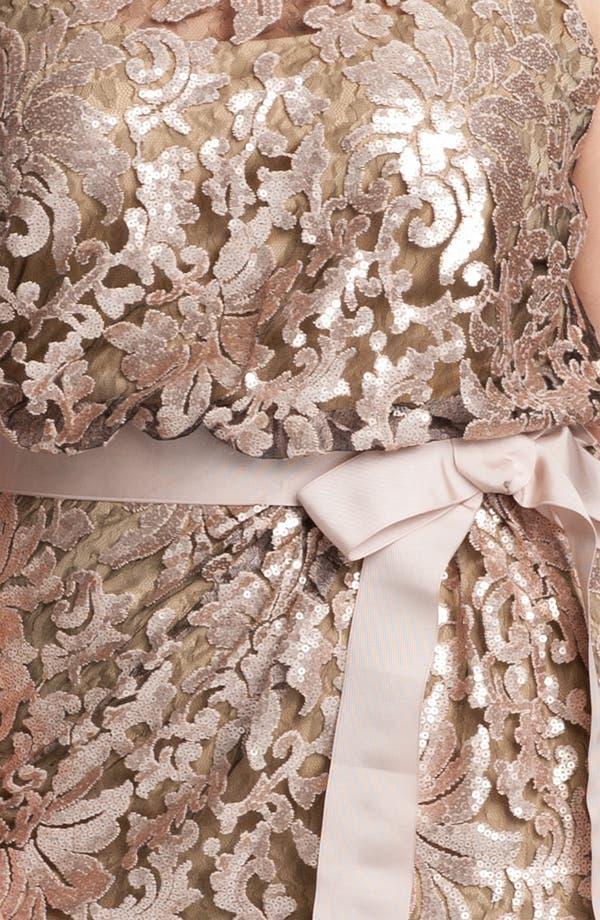 Alternate Image 3  - Tadashi Shoji Lace Overlay Dress (Plus Size)