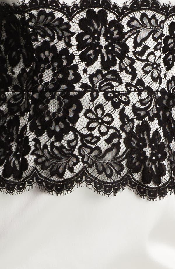 Alternate Image 3  - Xscape Lace Panel Satin Sheath Dress