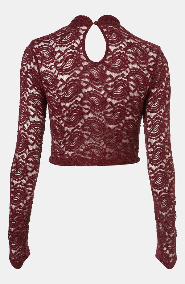 Alternate Image 2  - Topshop Lace Crop Top