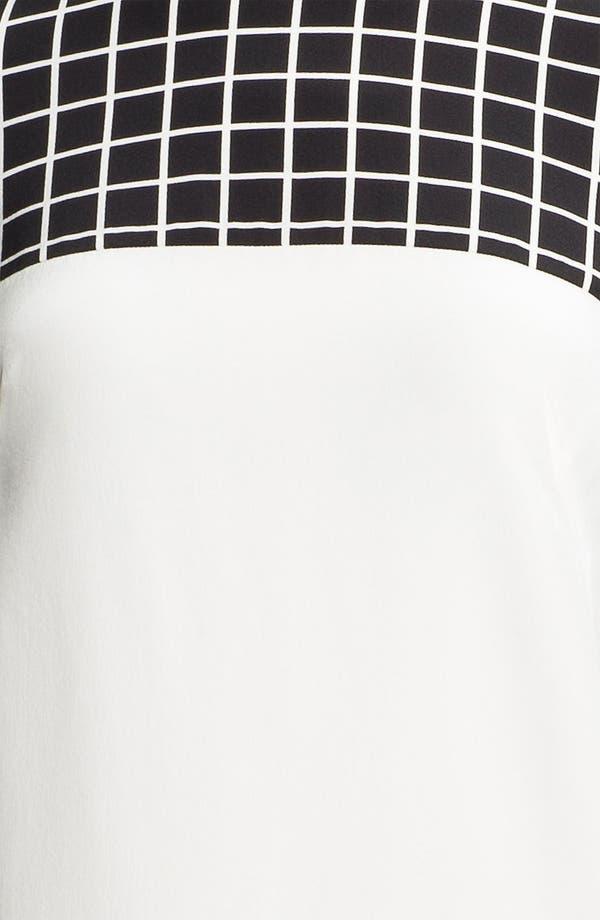 Alternate Image 3  - Tibi Windowpane Silk Shift Dress