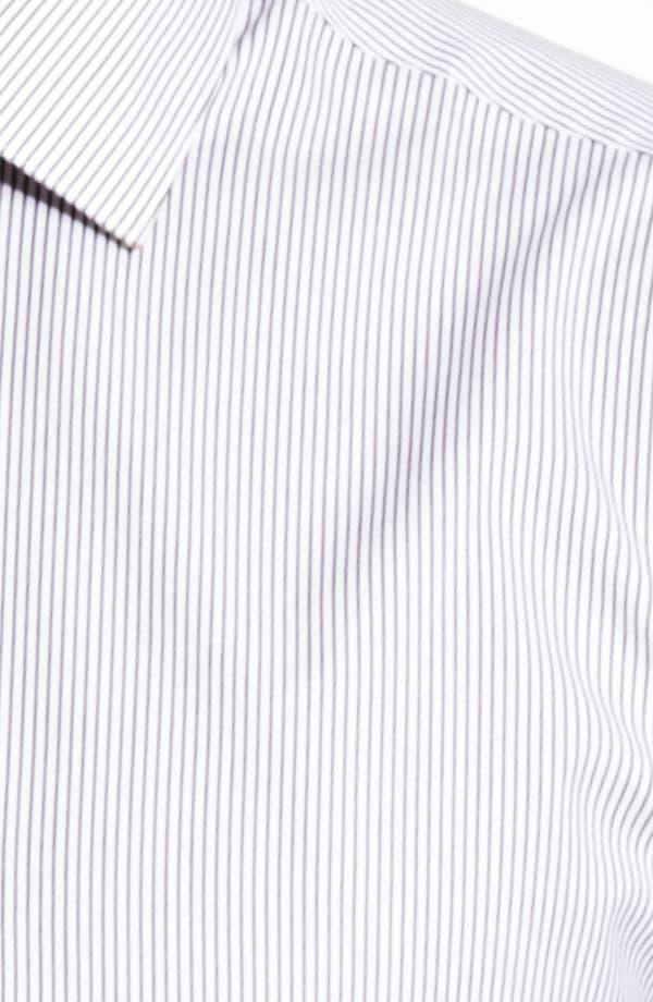 Trim Fit Stripe Dress Shirt,                             Alternate thumbnail 2, color,                             Black Ink