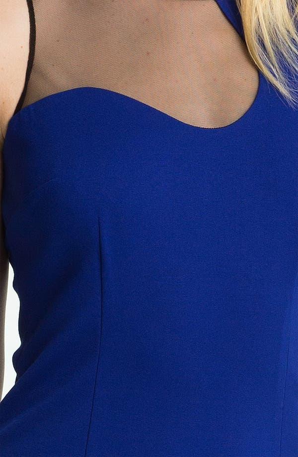 Alternate Image 3  - Cynthia Steffe Mesh Cutout Ponte Sheath Dress