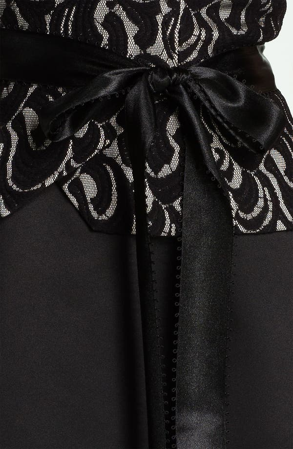Alternate Image 3  - Patra Lace Appliqué Satin Fit & Flare Dress