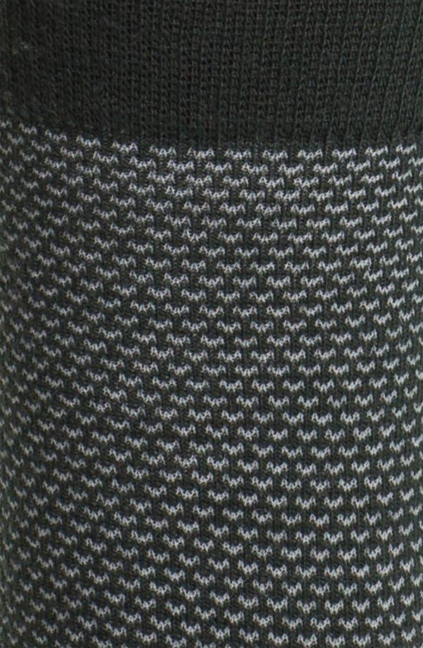 Alternate Image 2  - Nordstrom Geometric Merino Blend Crew Socks