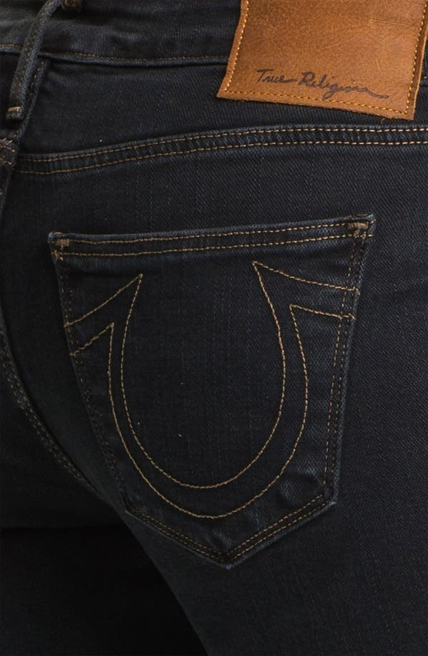 Alternate Image 3  - True Religion Brand Jeans 'Shannon' Studded Pocket Skinny Jeans (Black Stone)