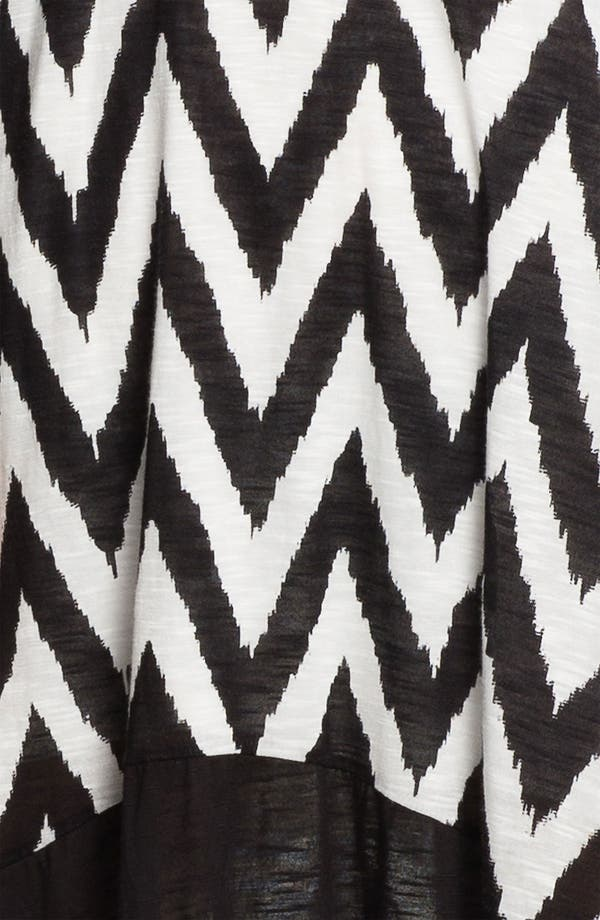 Alternate Image 3  - Ella Moss 'Mazzy' Zigzag Print High/Low Dress