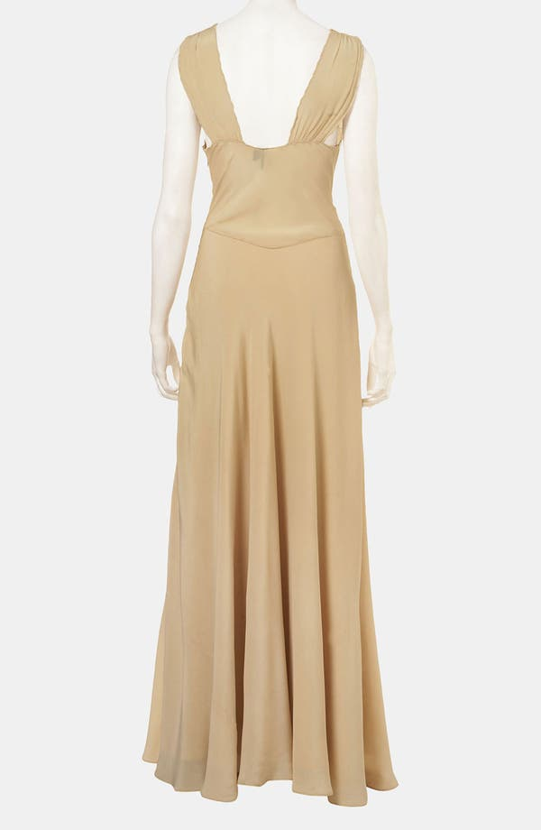 Alternate Image 2  - Topshop Crochet Trim Silk Gown