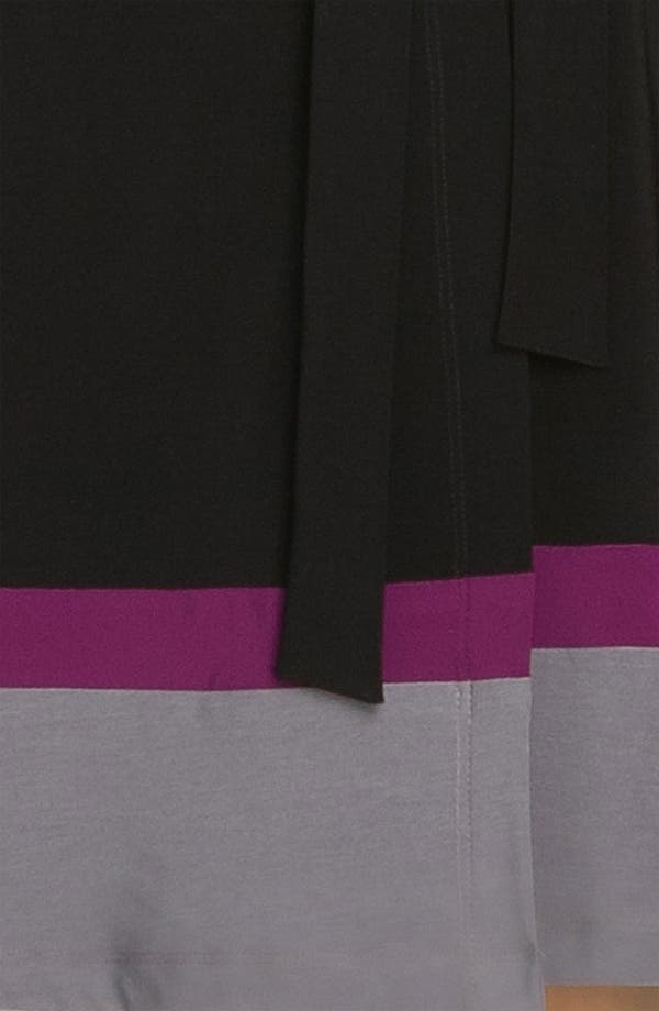 Alternate Image 3  - Alex & Ava Colorblock Jersey Wrap Dress (Petite)