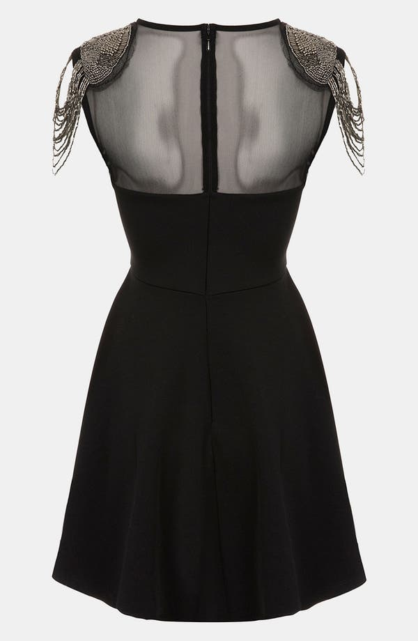 Alternate Image 2  - Topshop Fringe Embellished Skater Dress