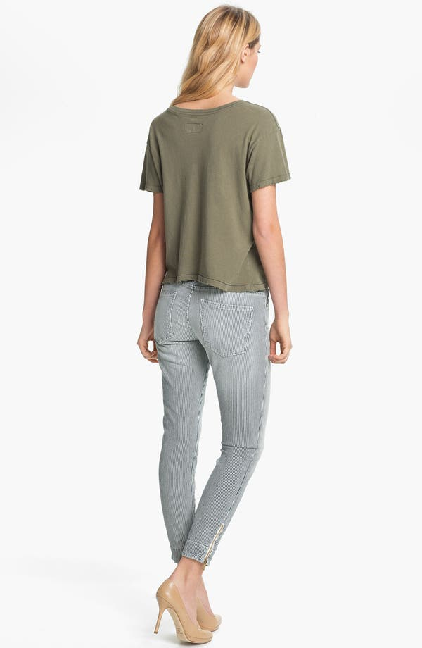 Alternate Image 5  - Current/Elliott 'The Quartermaster' Stripe Skinny Jeans