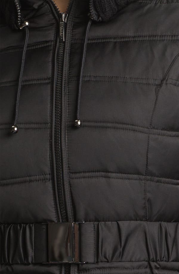 Alternate Image 3  - Laundry by Shelli Segal Knit Trim Quilted Coat