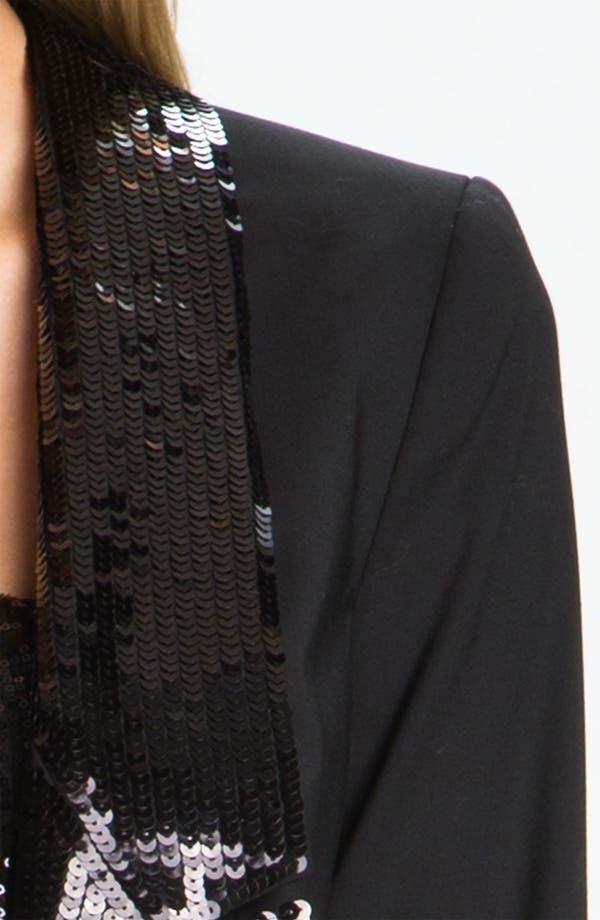 Alternate Image 3  - MICHAEL Michael Kors Sequin Peak Lapel Blazer (Petite)