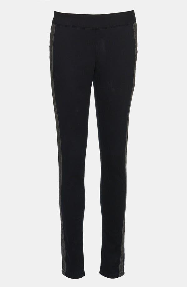 Main Image - Leith Tux Stripe Skinny Pants