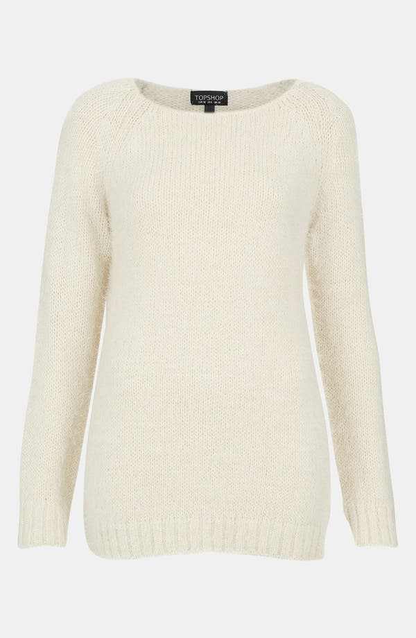 Alternate Image 1 Selected - Topshop Feather Knit Sweater