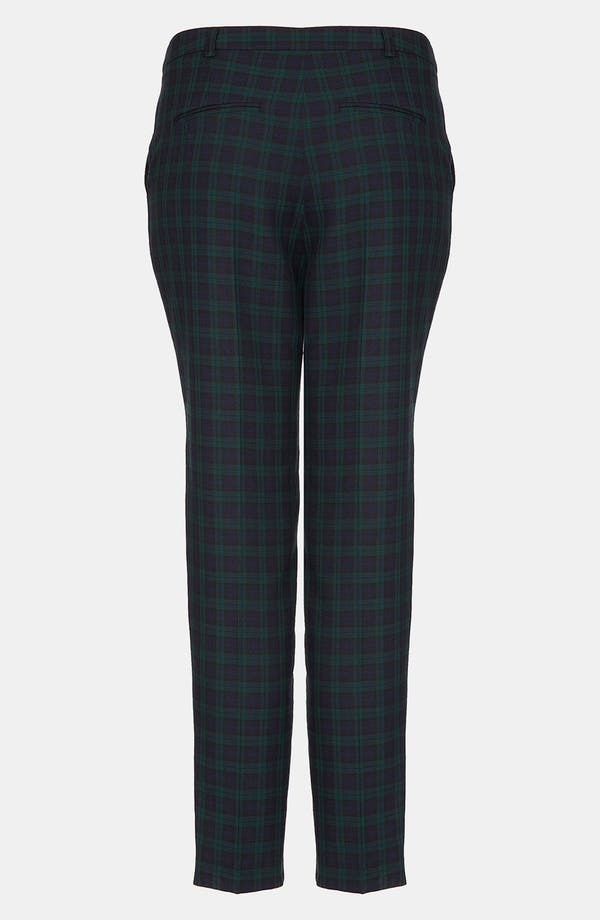 Alternate Image 2  - Topshop 'Mini Black Watch' Tartan Cigarette Pants