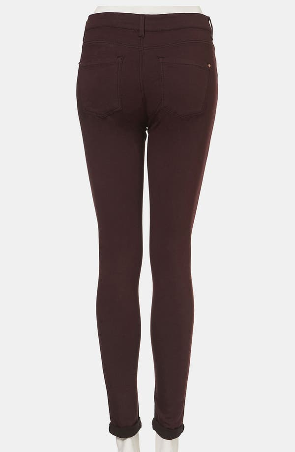 Alternate Image 2  - Topshop Moto 'Leigh' Skinny Jeans (Wine)