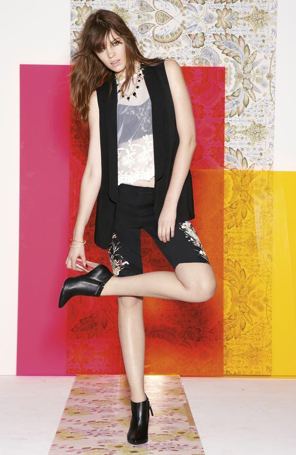 Alternate Image 4  - Mural Floral Print Tux Vest