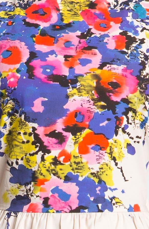 Alternate Image 3  - RED Valentino Bouquet Print Dress