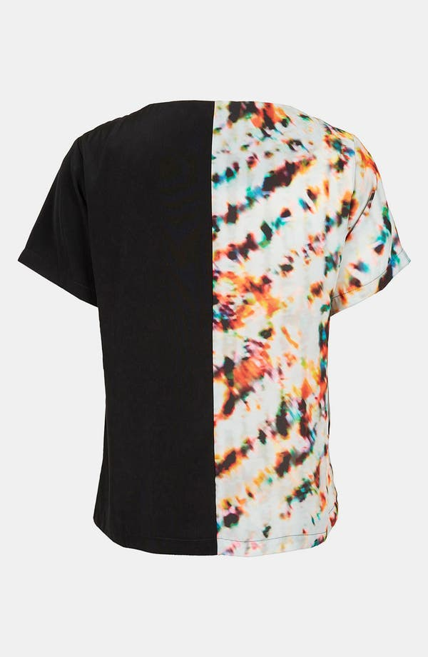 Alternate Image 2  - Topshop 'Half & Half' Mixed Print Tee
