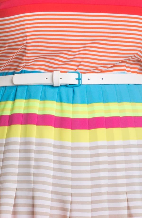 Alternate Image 3  - Calvin Klein Belted Stripe Dress (Plus)