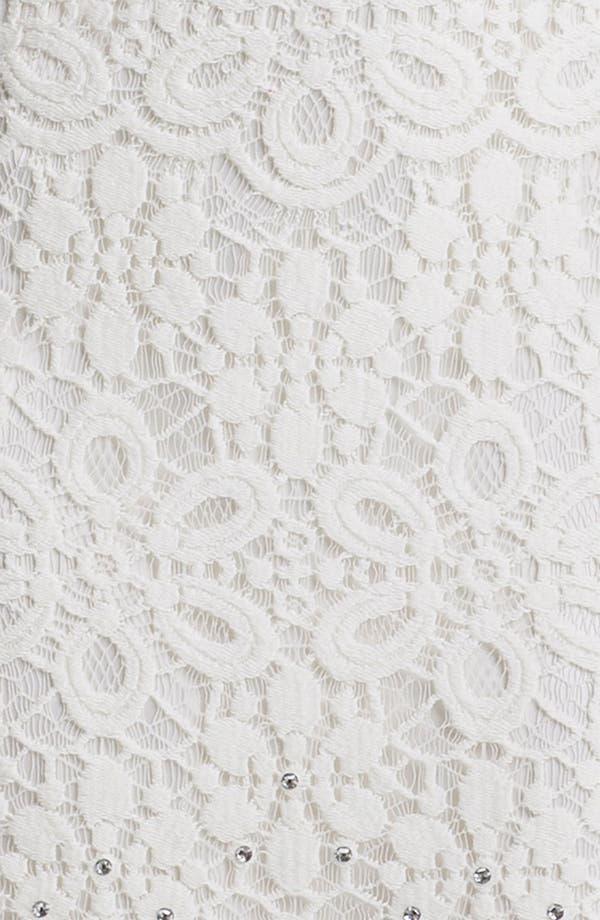 Alternate Image 3  - Laundry by Shelli Segal Embellished Lace Dress