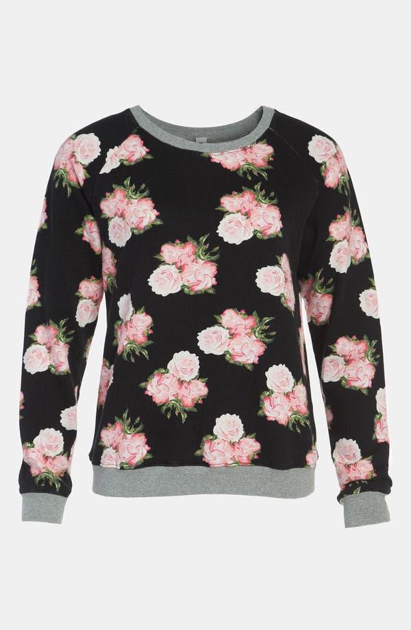 Alternate Image 1 Selected - Mural Floral Sweatshirt