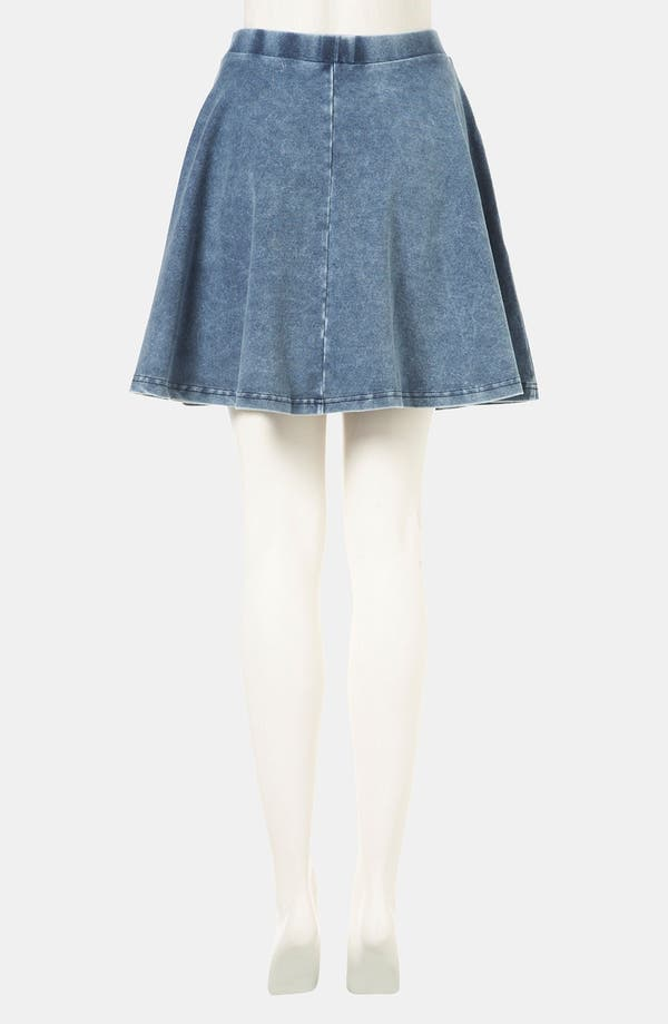 Alternate Image 2  - Topshop 'Andie' Denim Skater Skirt